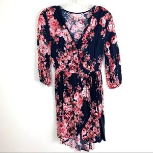 Band of Gypsies Floral Wrap Style Dress size small